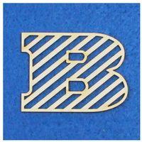 B - tekturka literka ażurowa prosta (3 szt)