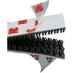 Taśma rzepowa Do przyklejenia Główka grzybkowa (DxS) 1000 mm x 19 mm Czarny 3M SJ 3552 Produkty w metrach bieżących