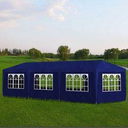 vidaXL Pawilon ogrodowy, namiot niebieski 8 ścian 9 x 3 2,5 m Darmowa wysyłka i zwroty