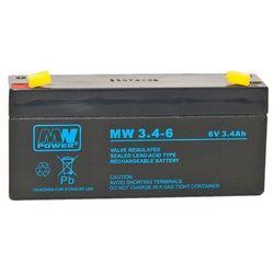 Akumulator żelowy 6,0V/3,4Ah MW Pb 134x34x65mm