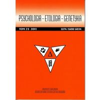 Psychologia-Etologia-Genetyka nr 23/2011 - No author - ebook