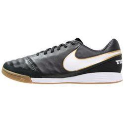 Nike Performance TIEMPO MYSTIC V IC Halówki black/white/metallic gold