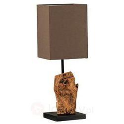 Drewniana lampa stołowa ABUJA prostokątna
