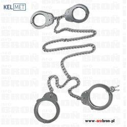 Kajdanki stalowe na ręce i nogi zespolone Kel-Met podwójnie ryglowane