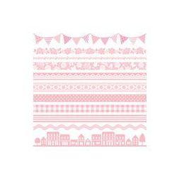 Foto naklejka samoprzylepna 100 x 100 cm - Różowy ładny wiersz baner reklamowy