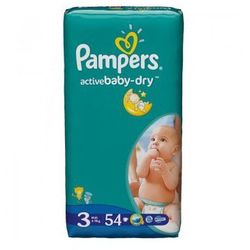 Pampers, Active Baby-Dry Midi, Value Pack - 54 szt.
