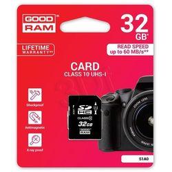 GOODRAM SD 32GB Class 10 UHS I DARMOWA DOSTAWA DO 400 SALONÓW !!