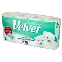 VELVET 8szt XXL Łagodnie seledynowy papier toaletowy