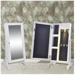 Biała toaletka na biżuterię z oświetleniem LED i lustrem Zapisz się do naszego Newslettera i odbierz voucher 20 PLN na zakupy w VidaXL!