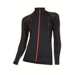 Bluza Damska Brubeck Fit LS01030 Czarny/Czerwony