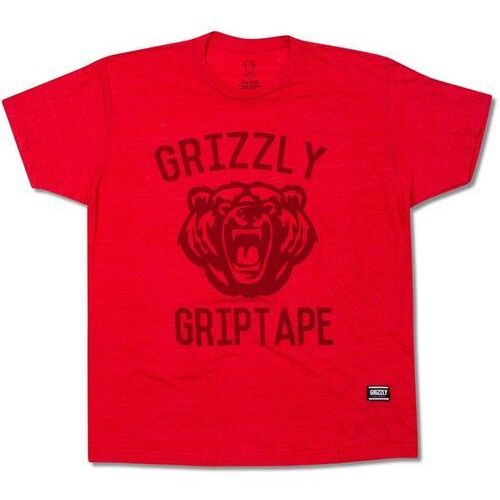 koszulka GRIZZLY - Athletic Dept Tee Red (RED) rozmiar: M