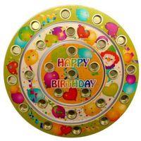 HESS Stojak na świeczki urodzinowe Happy Birthday