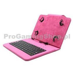 Akcja - Etui FlexGrip z klawiaturą do GoClever Insignia 700 Pro, Różowy