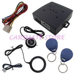 Sales Promotion RFID Car Alarm With Push Start Button And Transponder Immobilizer System Car Engine Start Stop
