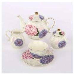 Zestaw do kawy dla 6 osób porcelana Altom Hortensja (15 el.)
