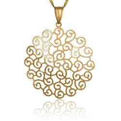 Złoty Komplet 585 Łańcuszek z Zawieszką GRAWER ZZ147