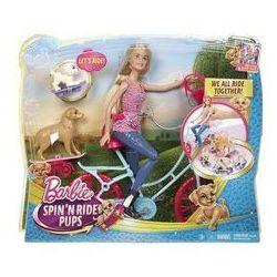 Barbie lalka na rowerze z pieskami