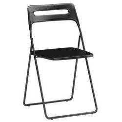 NISSE Krzesło składane czarne