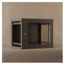 Netrack szafa wisząca 19'', 9U/400 mm – grafit, drzwi szklane, otwierane boki