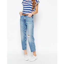 M.i.h. Jeans Jeanne Mom Jeans With Ripped Knee - Blue
