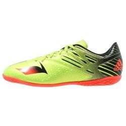 adidas Performance MESSI 15.4 IN Halówki semi solar slime/solar red/core black