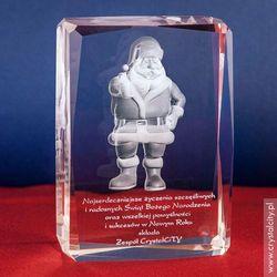 Święty Mikołaj 3D w krysztale + Twoje osobiste życzenia GRATIS