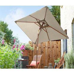 Mały parasol ogrodowy, szarobeżowy