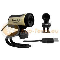 Kamerka internetowa USB Prestigio PWC213 1,3 Mpixel, czarno / brązowa, CMOS