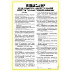 Ogólna Instrukcja BHP mycia i dezynfekcji pomieszczeń, urządzeń i sprzętu w zakładach produkcji spożywczej