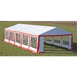 vidaXL Pawilon ogrodowy 10x5m (dach+penele boczne), czerwono-biały Darmowa wysyłka i zwroty