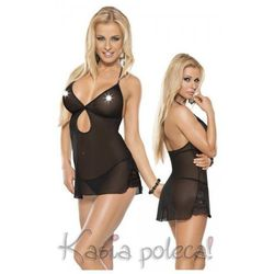 Roxana Mini Dress & String Model: 6570 Black S Sukienka i stringi czarne S