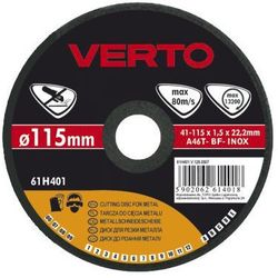Tarcza do cięcia VERTO 61H405 125 x 1.0 x 22.2 mm do metalu