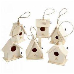 Drewniany domek dla ptaków - wzór I