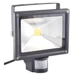 Superled Oprawa lampa naświetlacz halogen Led 20W barwa zimna z czujnikiem ruchu PIR