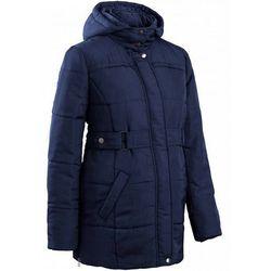 Płaszcz ciążowy pikowany bonprix ciemnoniebieski