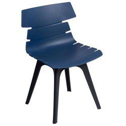Krzesło Techno z czarną podstawą - niebieski