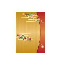 Foto naklejka samoprzylepna 100 x 100 cm - Sosna, bambus i śliwa