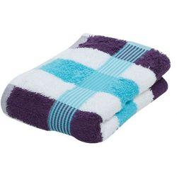 Gözze, ręcznik bawełniany, seria NEW YORK STREIFEN, rozmiar 30x50cm, kol. turkusowy/biały/fioletowy, nr 555-8300-4