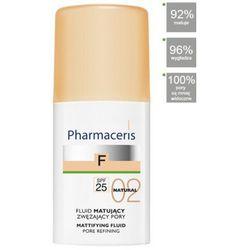 PHARMACERIS F FLUID MATUJĄCY zwężający pory SPF 25 02 NATURAL naturalny 30 ml