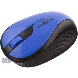 TITANUM Bezprzewodowa Myszka Optyczna 3D TM114B | 2.4 GHz | 1000 DPI | Niebieska