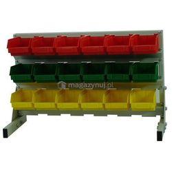 Stojak dla pojemników warsztatowych, wym. 380 x 670 x 220 mm (Pojemniki bez pojemników)