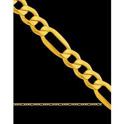 60cm piękny łańcuszek złoty figaro