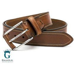 b77fa2c9dc2a4 Brązowy pasek skórzany do spodni casual jeans Miguel Bellido 4970-40-1613-53