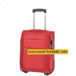 fd221e741636b PUCCINI walizka mała/ kabinowa wymiar akceptowany przez linię WizzAir z  kolekcji CAMERINO miękka 2 koła
