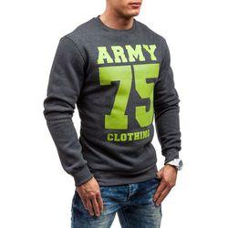 Antracytowa bluza męska bez kaptura Denley 0593 - ANTRACYTOWY