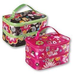 Top Choice Kosmetyczka damska Flower kuferek podwójny (92718) 1szt