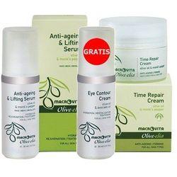 ZESTAW OLIVE-ELIA: krem przeciwzmarszczkowy na noc 50ml + anti-ageing & lifting serum 30ml + GRATIS nawilżający krem pod oczy 30ml