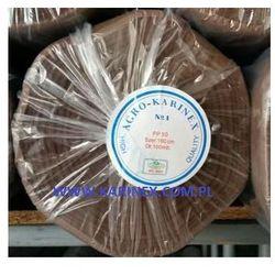 Agrowółknina ściółkujaca PP 50 g/m2 brązowa 1,6 x 100 mb. Rolka o wadze 8,6 kg.
