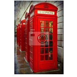Plakat Brytyjscy czerwone budki telefoniczne, Londyn