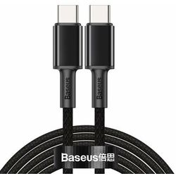 Baseus High Density Braided | Kabel Type-C Type-C 100W Power Delivery Quick Charge 3.0 Huawei SCP 5A - Czarny